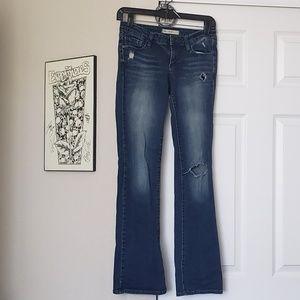 Dark Blue Bullhead Black Jeans